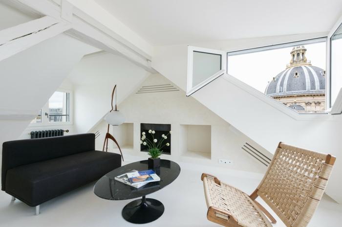 salon moderne aménagement de combles idée design scandinave