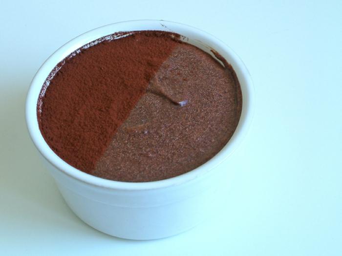 semoule au chocolat et lait d'amande
