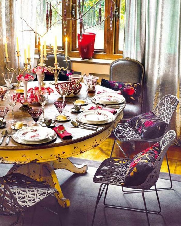superbe idée décoration de table de noël