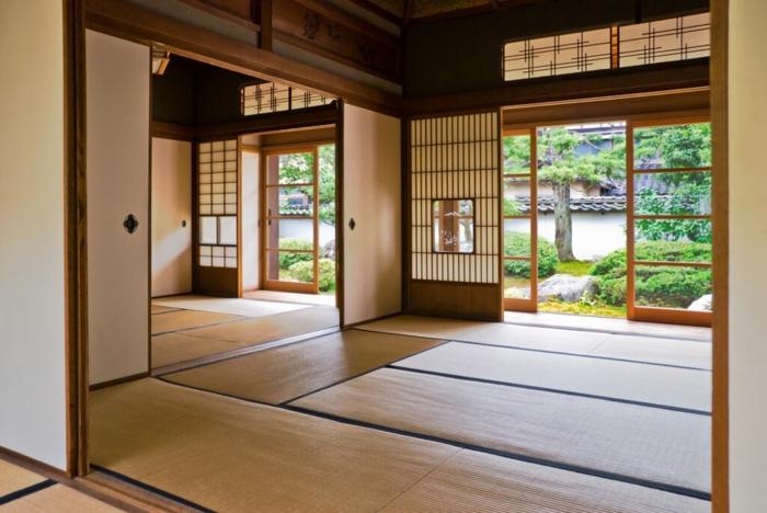 tatami revêtement de sol pour un lit futon