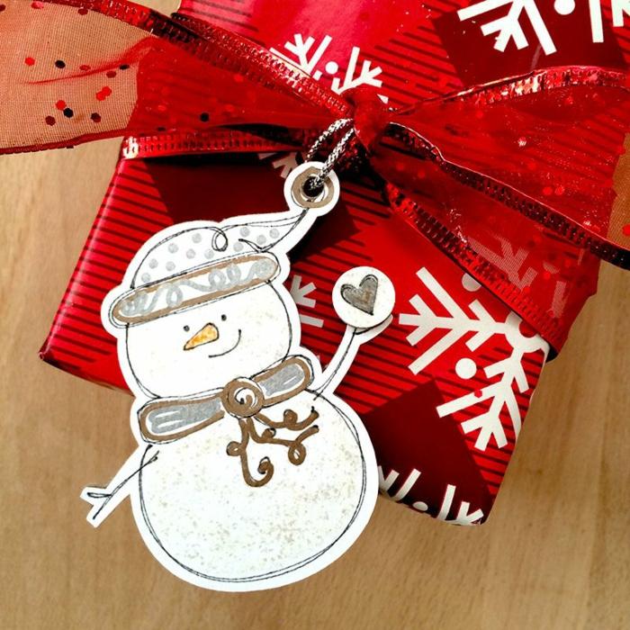 étiquettes noël bonhomme de neige