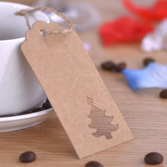 étiquettes noël faciles en papier craft