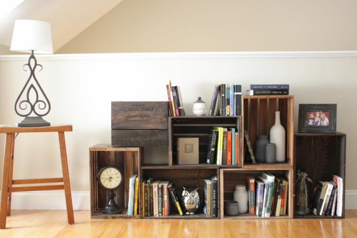 caisse de vin meuble salon