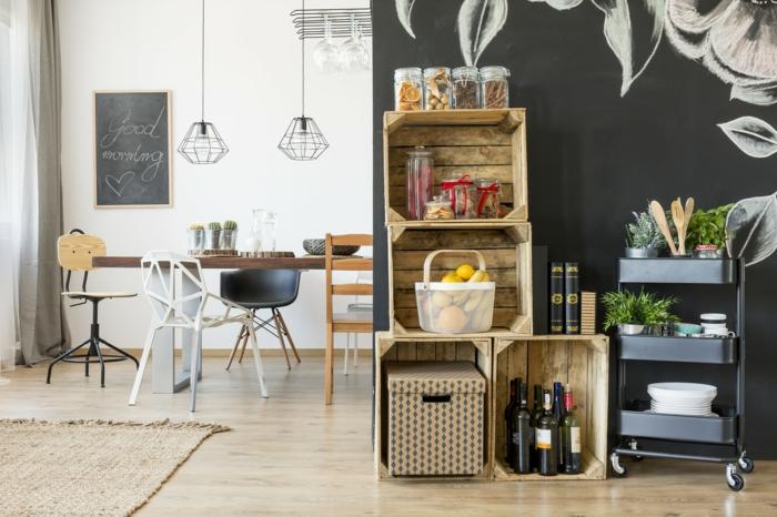 La caisse de vin en bois : idées déco faciles pour votre maison