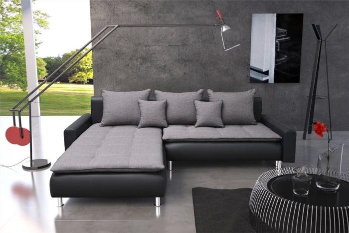 canapé d'angle dans les soldes meubles en hiver