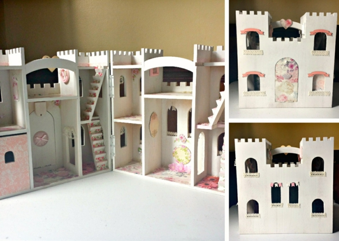 château maison de poupée en bois modèle