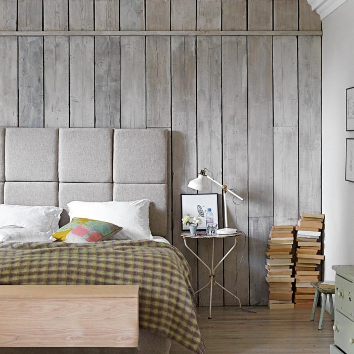 chambre bois gris papier peint imitation bois