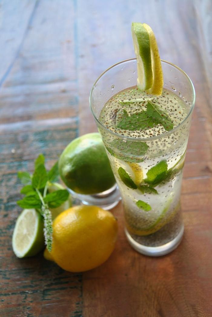 citronade aux graines de chia