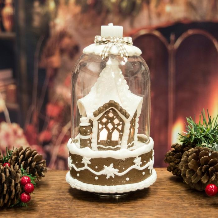 cloches en verre déco festive
