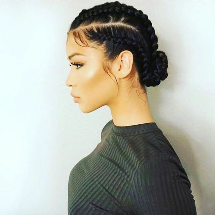 coiffure simple et élégante tresse africaine