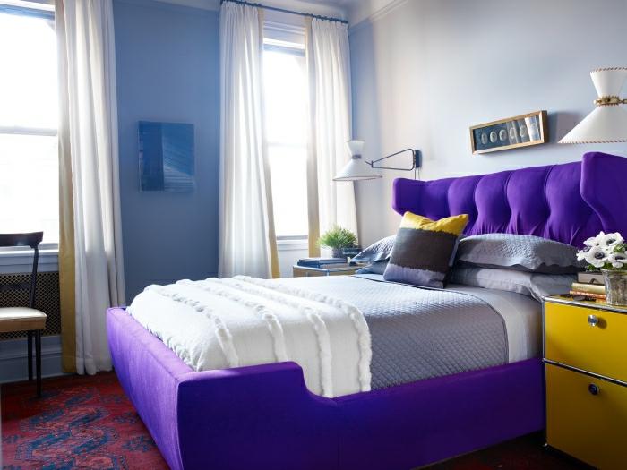 déco chambre en ultra violet