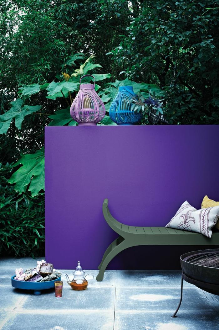 déco extérieur en couleur tendance ultra violet