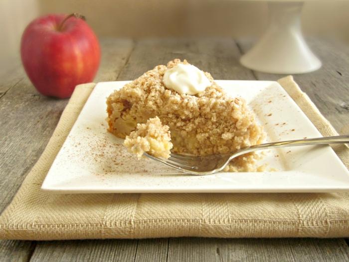 dessert noël gâteau aux pommes