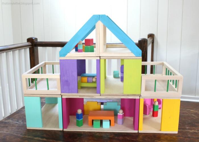 diy maison de poupée en bois idée de modèle