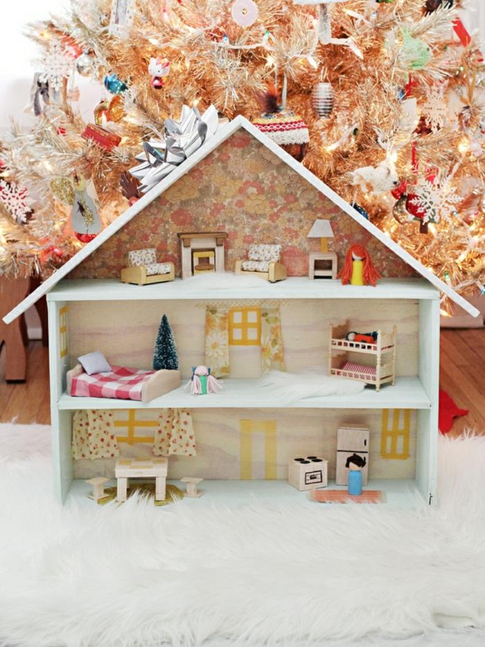 diy maison de poupée en bois jouet d'enfant
