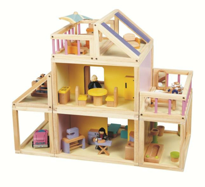 diy maison de poupée en bois trois étages