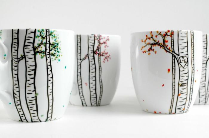 diy mug personnalisé à partir de tasse de porcelaine