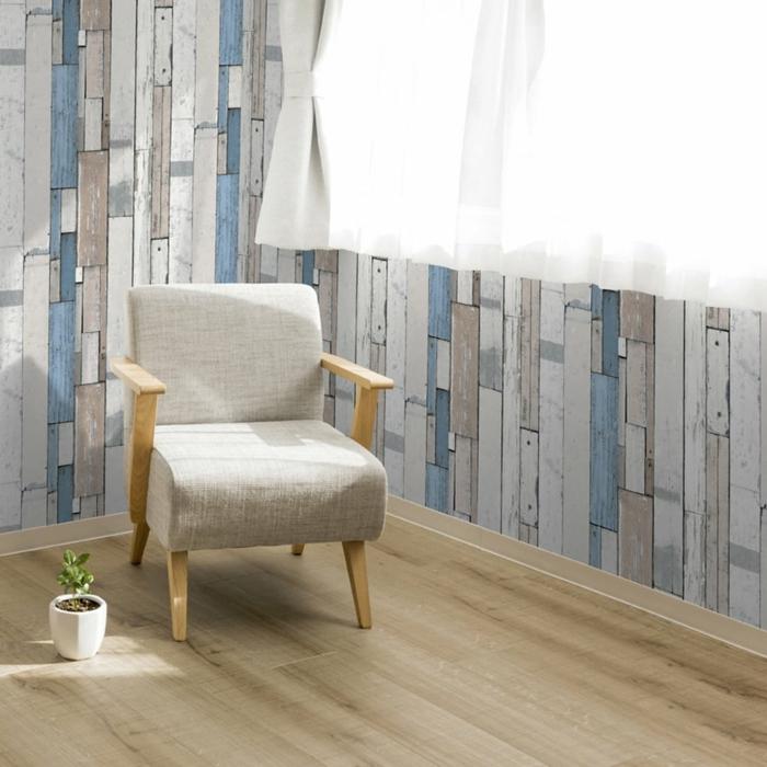 effet déco papier peint imitation bois
