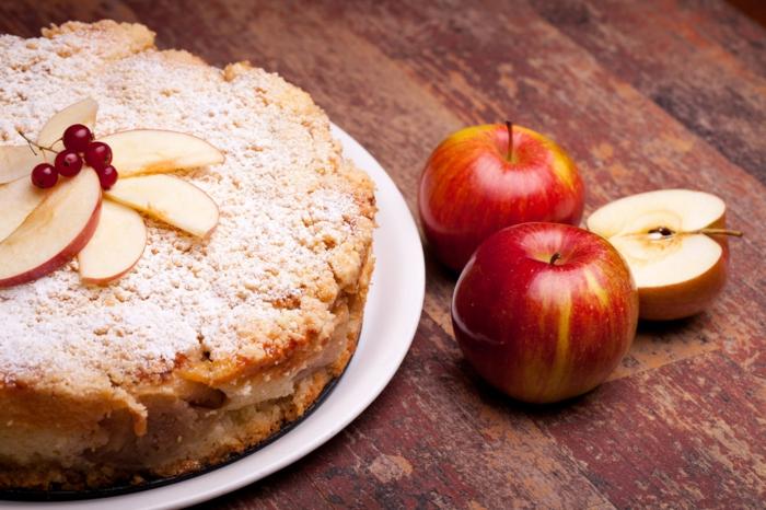 idées de gâteau aux pommes pour noël
