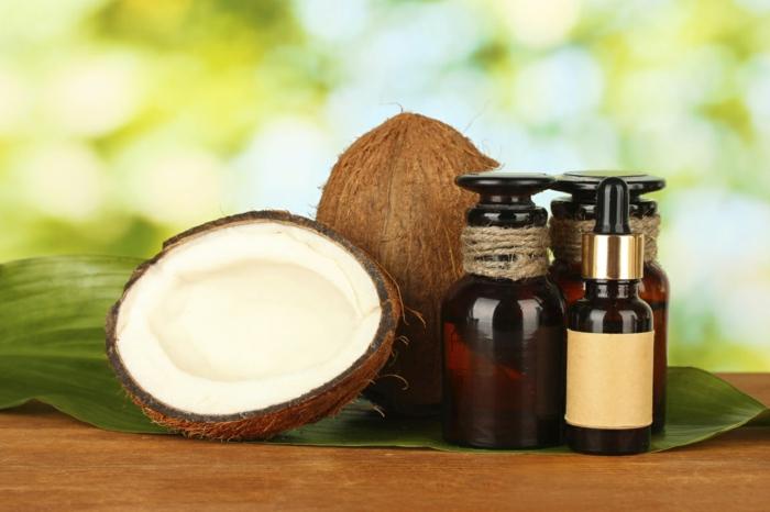 huile hydratante visage huile de coco