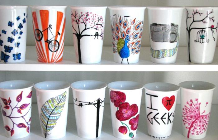 idée diy mug personnalisé avec des marqueurs permanents
