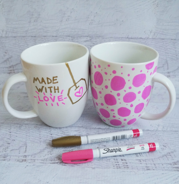 idée diy mug personnalisé marqueurs sharpie