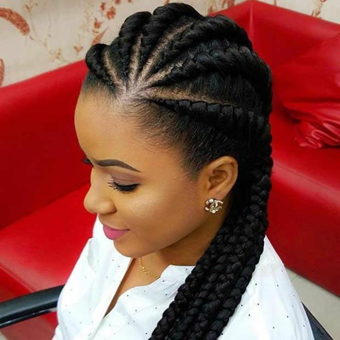 idée tresse africaine cornrows braids