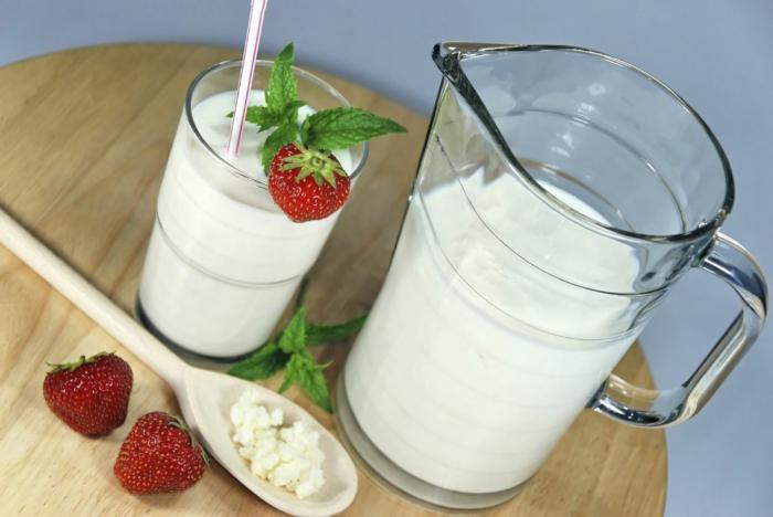 lait fermenté kéfir boisson saine