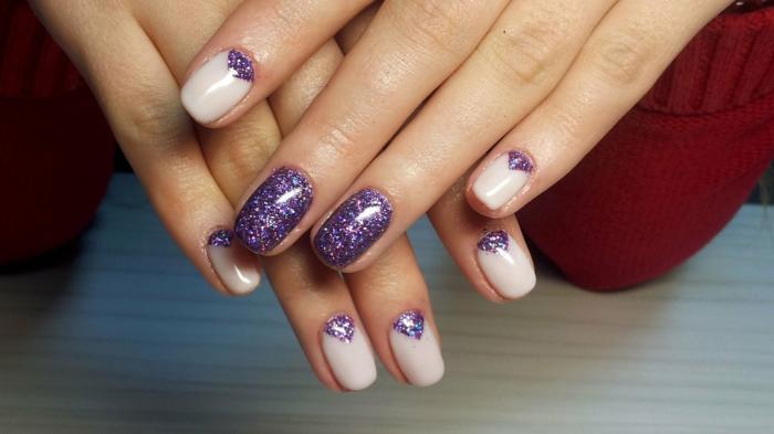 manucure en couleur ultra violet