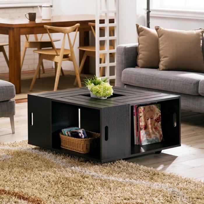 meubles de caisse de vin pour un salon