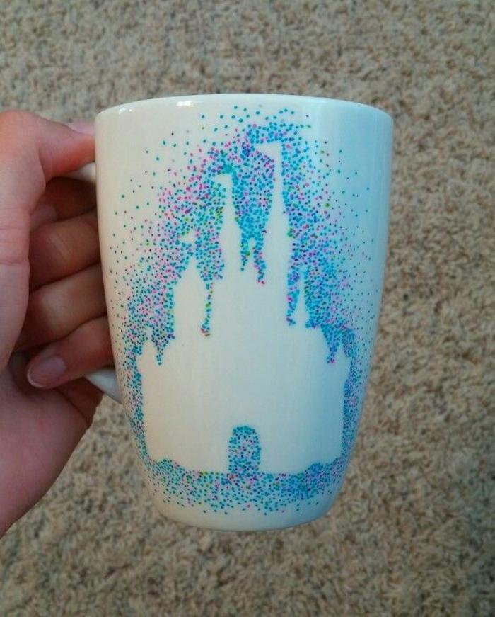 mug personnalisé château idée design
