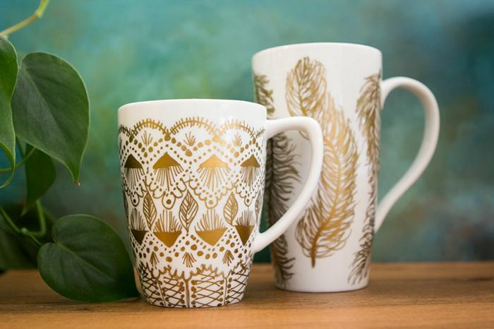 mug personnalisé diy idée marqueurs sharpie or
