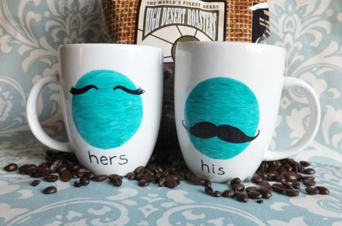 mug personnalisé marqueurs permanents couple