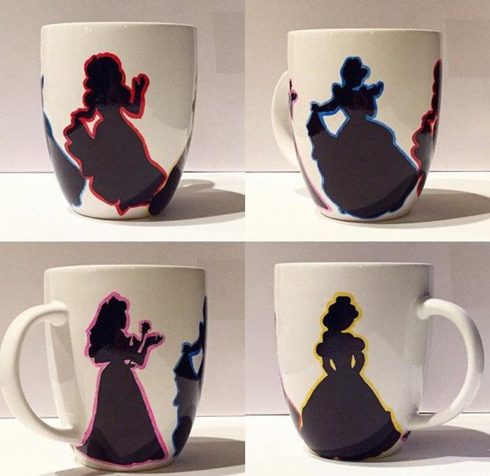mug personnalisé princesses disney