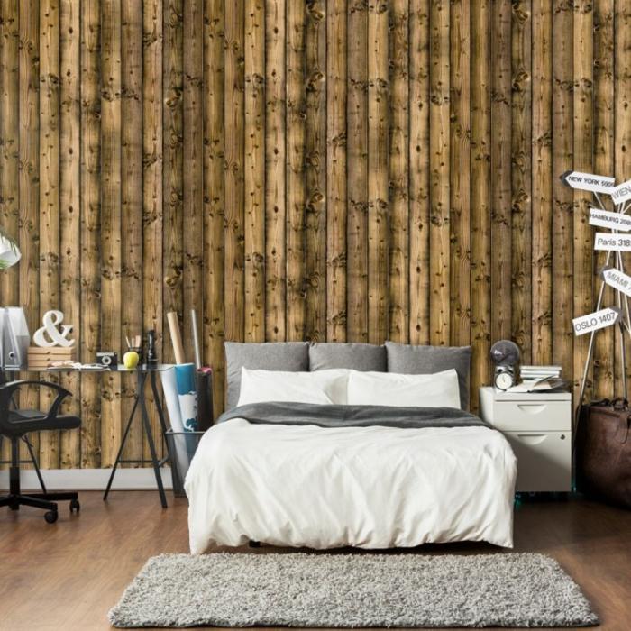 papier peint imitation bois bamboo