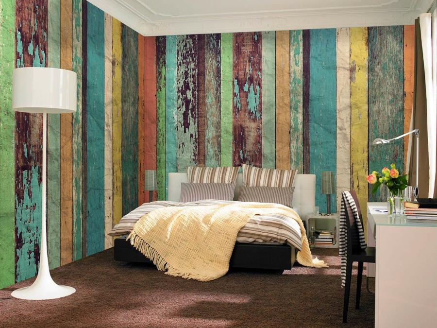 Papier peint imitation bois importez de la chaleur dans votre int rieur for Chambre mansardee chaleur