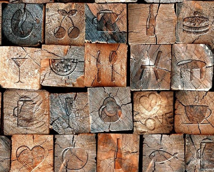 papier peint imitation bois effet 3d