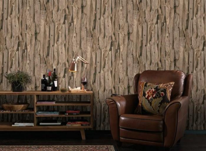 papier peint imitation bois flotté