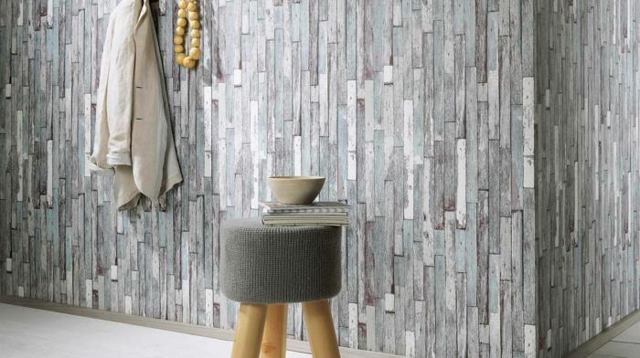 papier peint imitation bois lambris mural