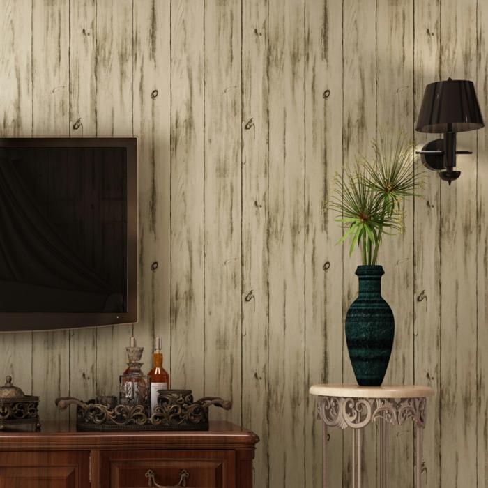 papier peint imitation bois planches de bois vieillies
