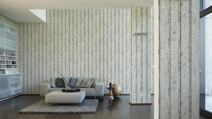 papier peint imitation bois sur tous les murs