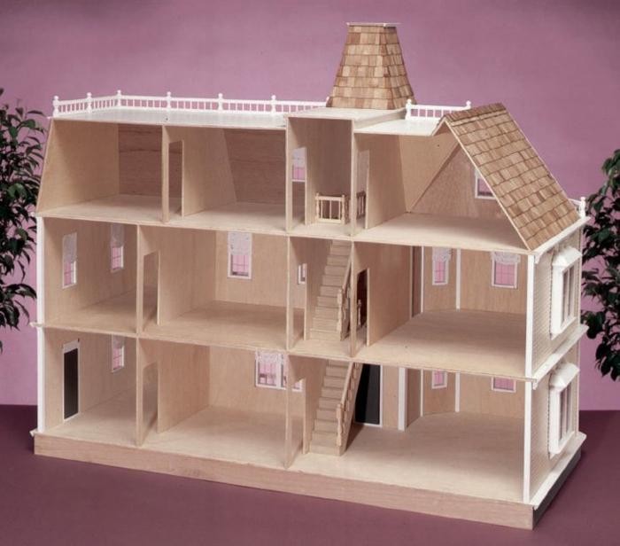 plannifier maison de poupée en bois pour enfants