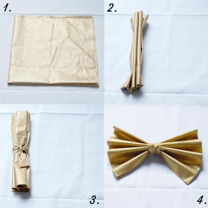 pliage de serviette pour noël décoration de table festive