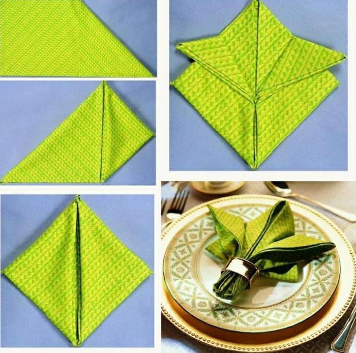 pliage de serviette pour noël fleur de lis