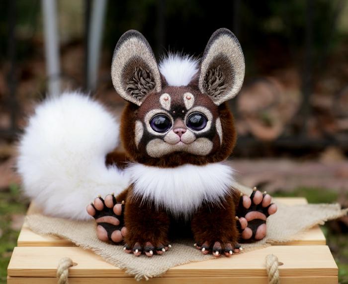 poupée réaliste animal peluche santani