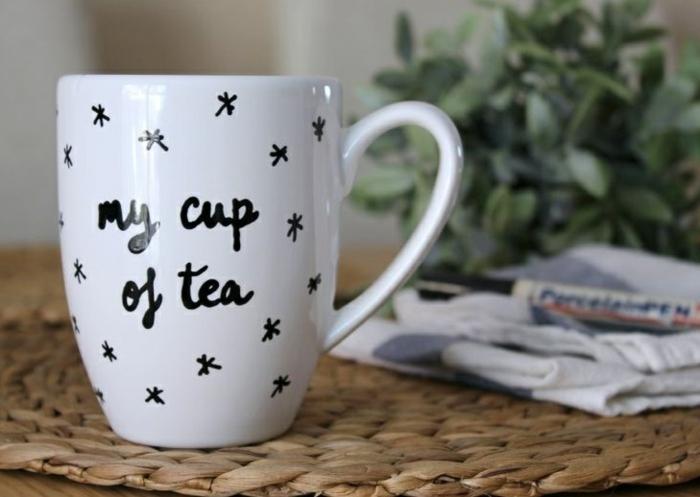 projet diy simple mug personnalisé