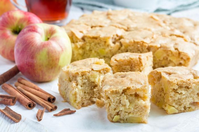 recette de gâteau aux pommes et à la cannelle facile à faire