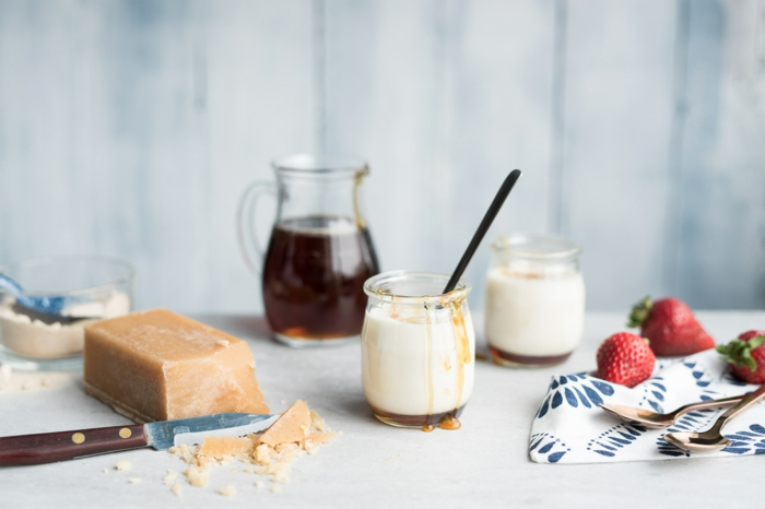 recette lait fermenté et sirop d'érable