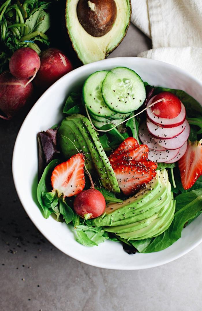 salade détox avec graines de chia