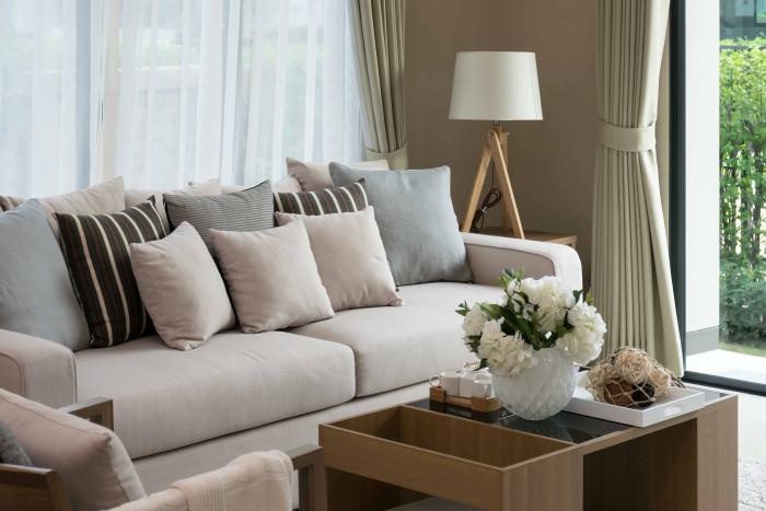 soldes meubles pour le salon - canapé et table